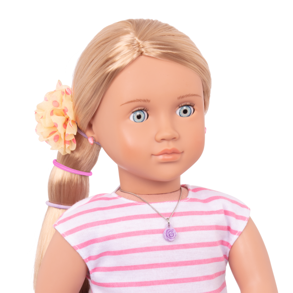 Fine in Floral Jewelry Set for 18-inch Dolls Alessia Hair Elastics