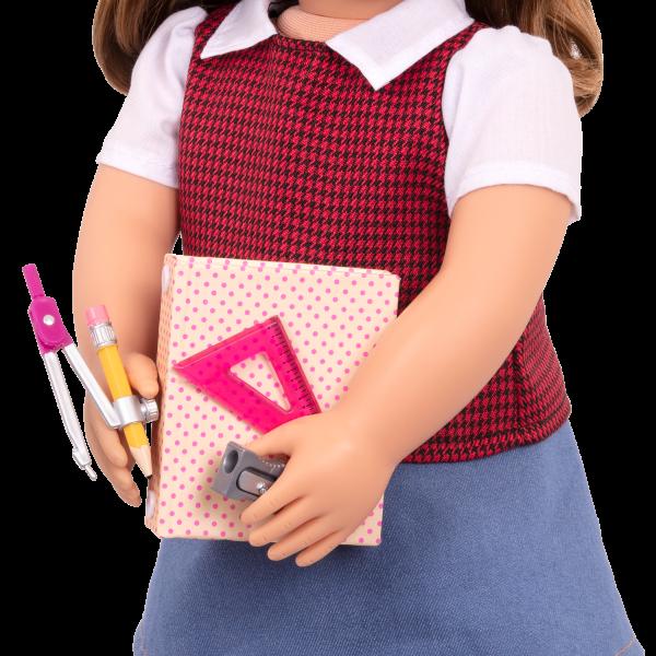 Talent and Mathematics School Accessories Binder for 18-inch Dolls