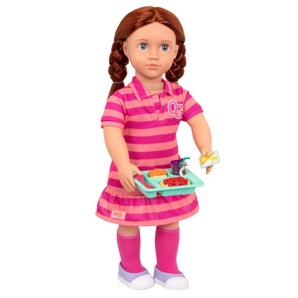 Lunch Time Fun Time School Play Food Set for 18-inch Dolls Kimmy
