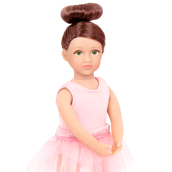 Read and Play Set 6-inch Mini Doll Sydney Lee Brown Hair