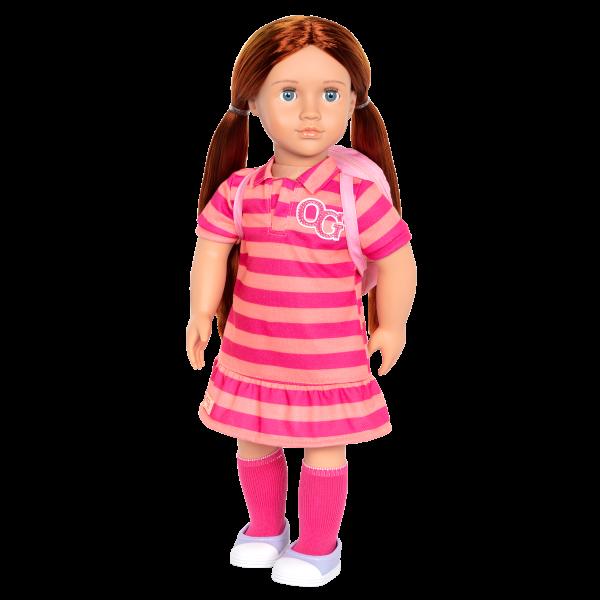 18-inch School Doll Kimmy Red Hair