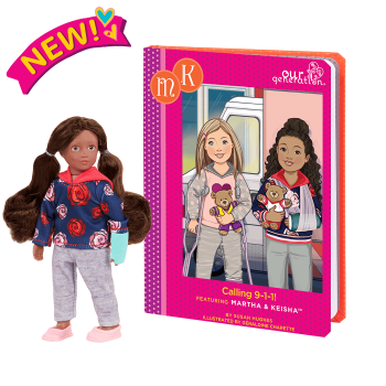 Read & Play Set with 6-inch Mini Doll Keisha