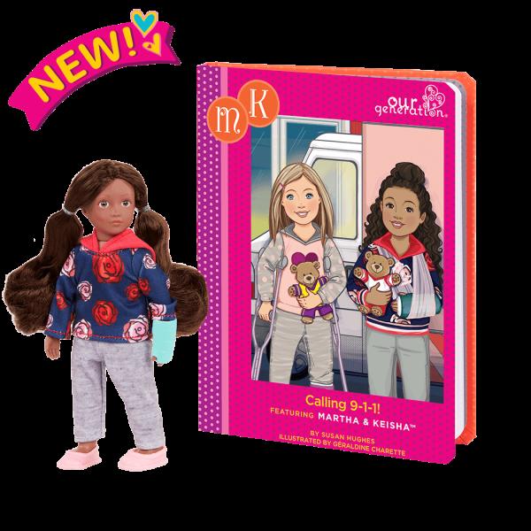Read & Play Set with 6-inch Mini Doll Keisha