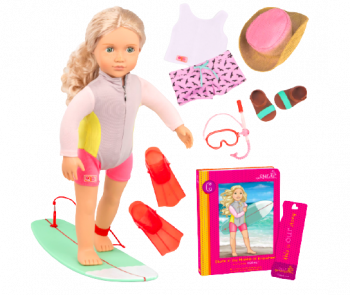 Coral Deluxe 18-inch Surfing Doll