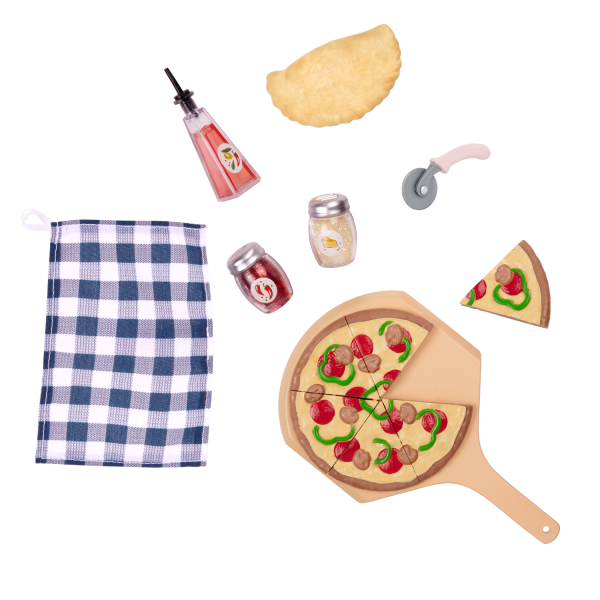 Pizza Oven Playset Toy Food Accessories for 18-inch Dolls