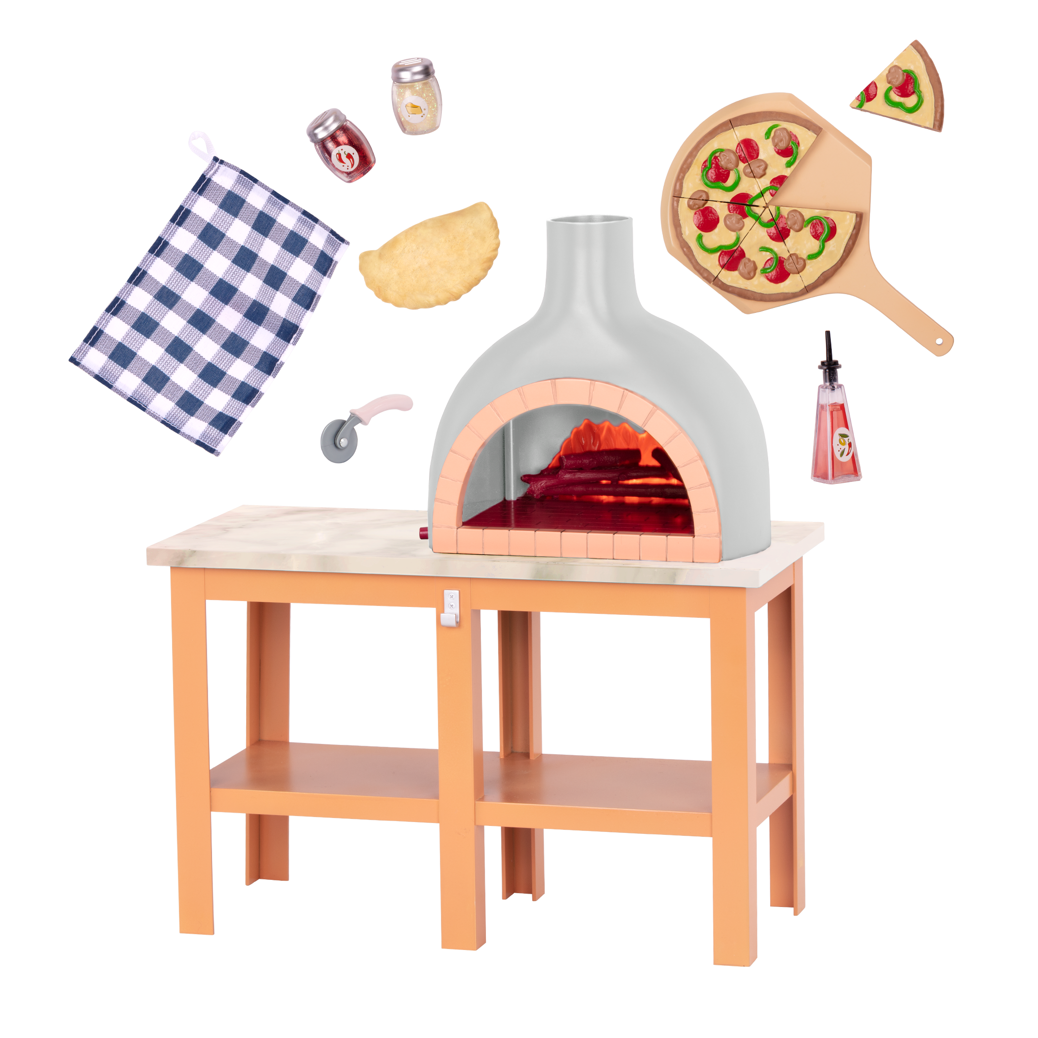 Pizza Oven Playset for 18-inch Dolls