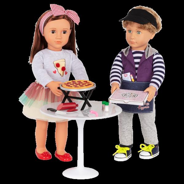 Yummy Pizzeria Restaurant Play Food Pizza Set for 18-inch Dolls Rafael Francesca