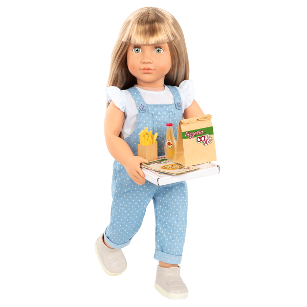 Order's Up Play Food Pizza Delivery Bag for 18-inch Dolls Lorelei