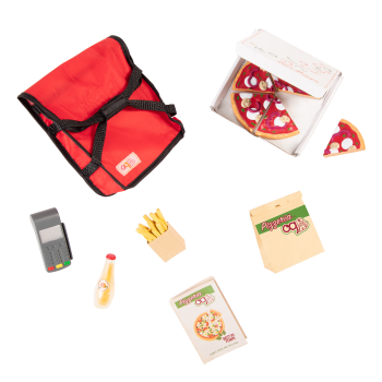 Order's Up Play Food Pizza Delivery Set for 18-inch Dolls