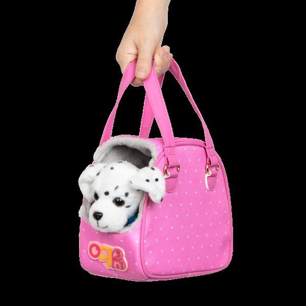 Hop In Dog Carrier Travel Bag Pet Plush Dalmatian for 18-inch Dolls