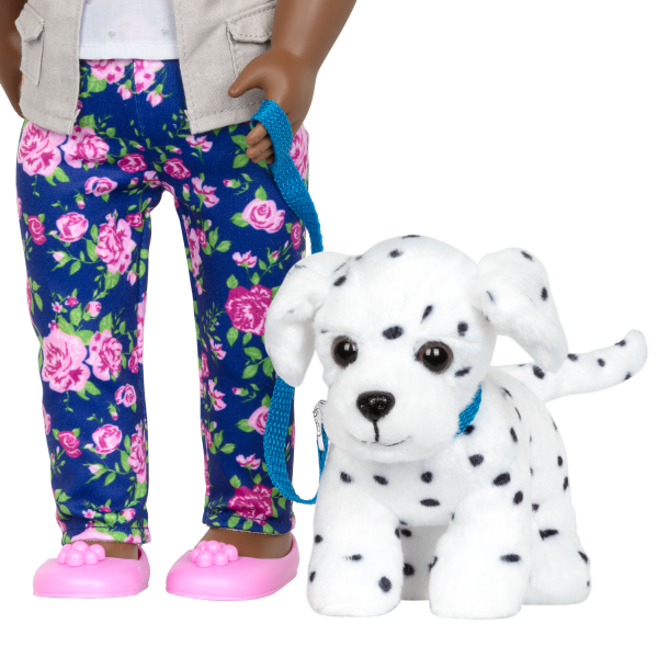 Hop In Dog Carrier Pet Plush Dalmatian Play Food Accessories for 18-inch Dolls