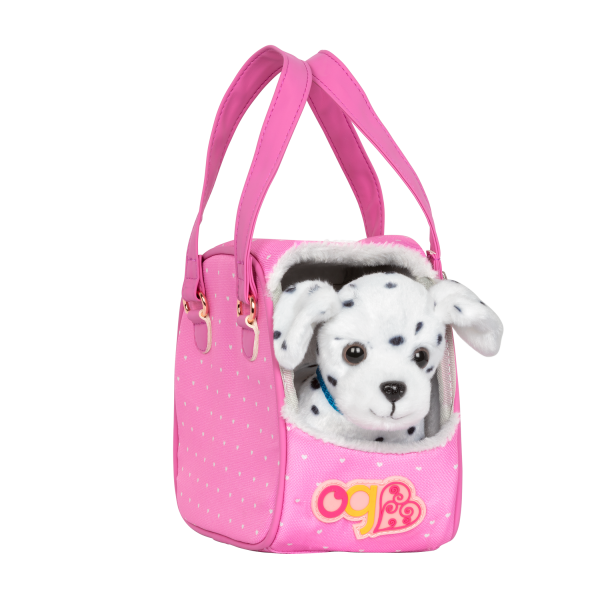 Hop In Dog Carrier Pet Plush Leash for 18-inch Dolls