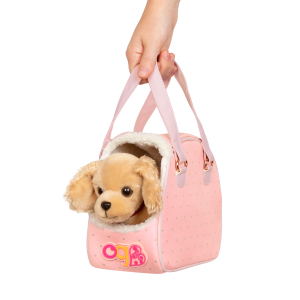Hop In Dog Carrier Pet Plush Puppy for 18-inch Dolls