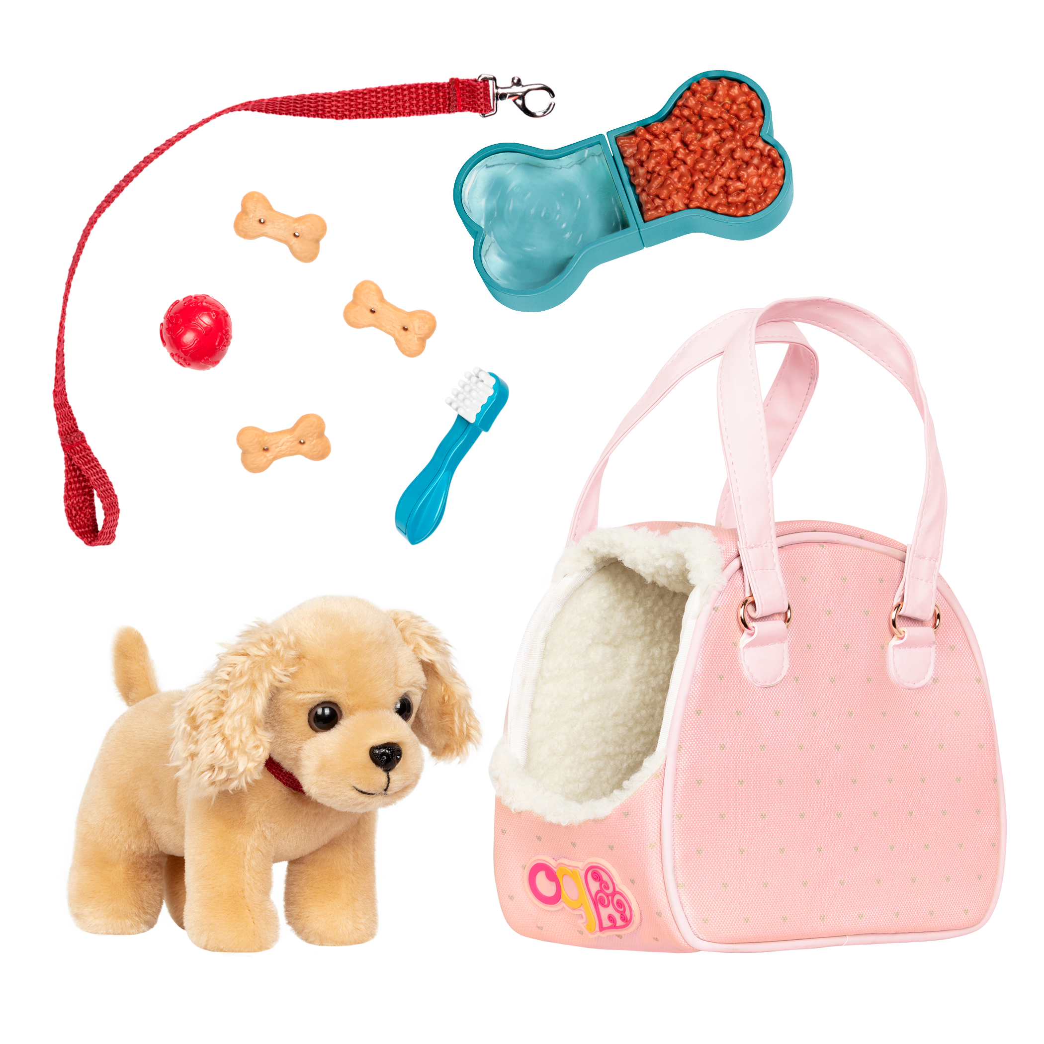 Hop In Dog Carrier Pet Plush for 18-inch Dolls