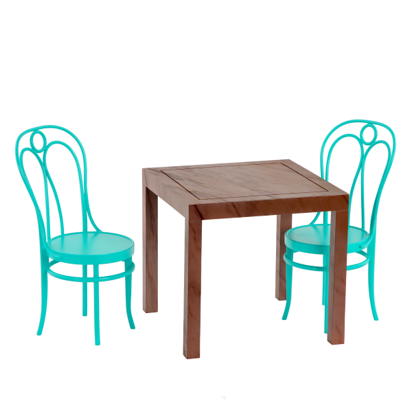 Pizza With You Dining Table Furniture Set for 18-inch Dolls