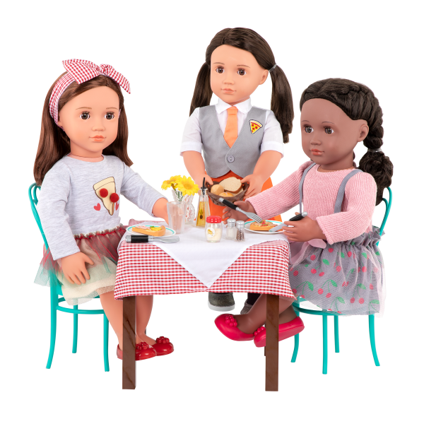 Pizza With You Dining Table Furniture Set for 18-inch Dolls Francesca Avia Rashida