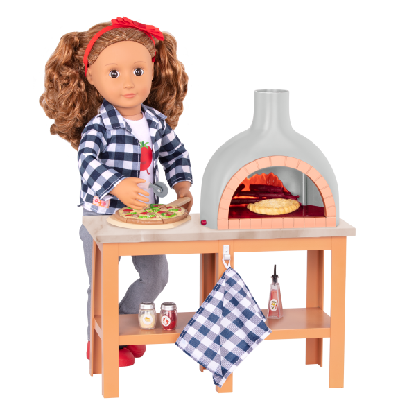 Electronic Pizza Oven Playset Toy Food for 18-inch Dolls Isa