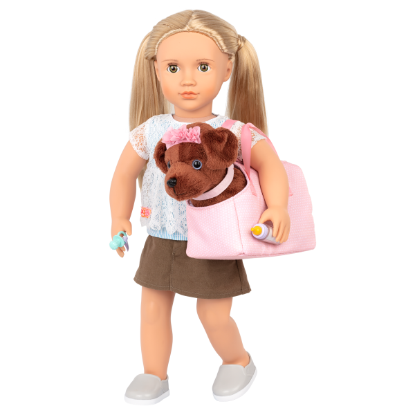 Happy Puppies Pet Care Set Dog Carrier for 18-inch Dolls