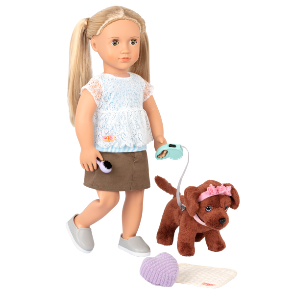 Happy Puppies Pet Care Set Dog Plush for 18-inch Dolls