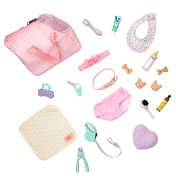 Happy Puppies Pet Care Set for 18-inch Dolls