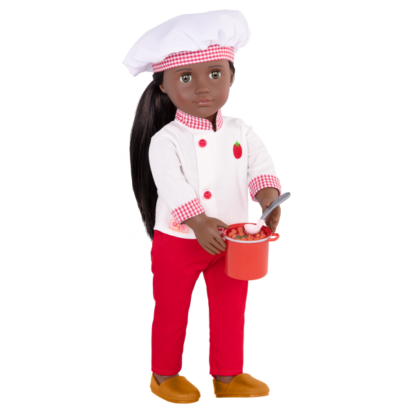 18-inch Chef Doll Chantel Sauce Pot Accessory