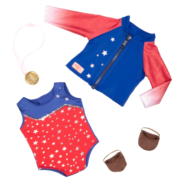 Athletic Team Series 18-inch Gymnastics Doll Nya Outfit