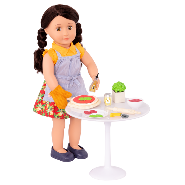 Tasty Toppings Pizza Making Play Food Set for 18-inch Dolls Mona