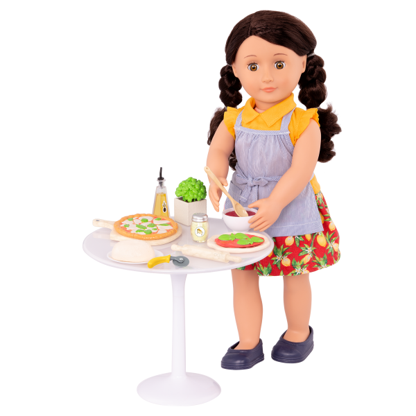 Tasty Toppings Pizza Making Set for 18-inch Dolls Mona