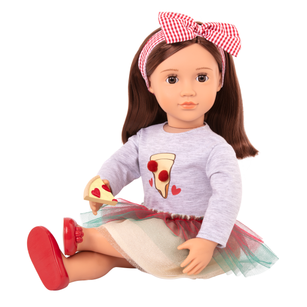 Posable 18-inch Pizza Chef Doll Francesca Toy Play Food