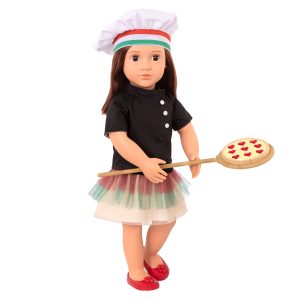 Posable 18-inch Doll Pizza Chef Francesca
