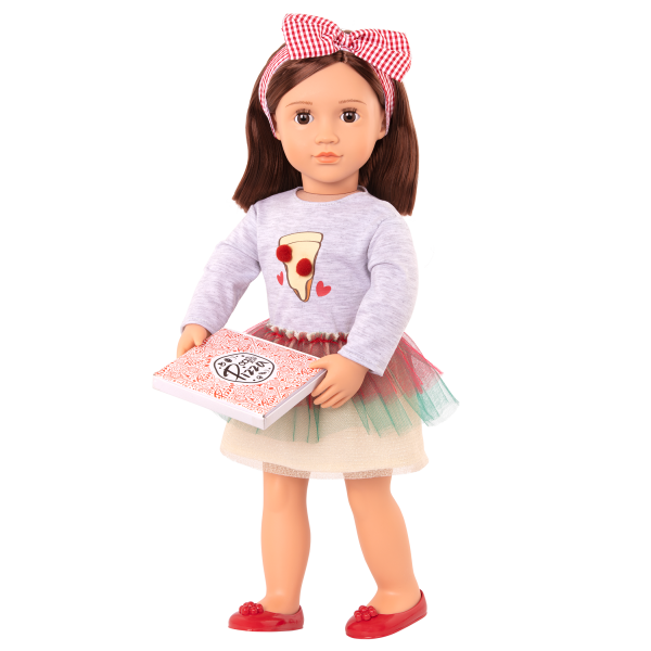 Posable 18-inch Pizza Chef Doll Francesca Brown Hair
