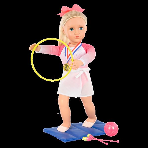 Posable 18-inch Rhythmic Gymnastics Doll Diane Hula Hoop Floor Mat
