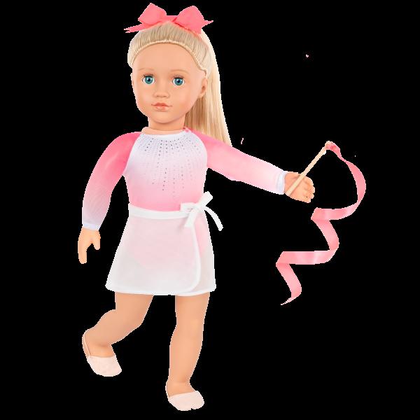 Posable 18-inch Rhythmic Gymnastics Doll Diane Baton Ribbon