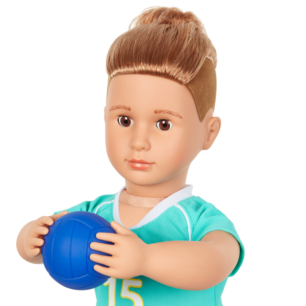 Posable 18-inch Boy Doll Johnny Toy Volleyball