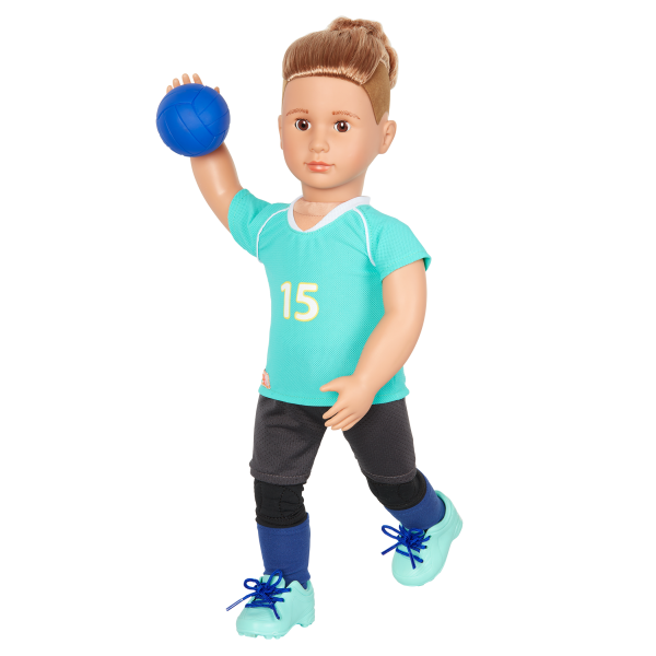 Posable 18-inch Volleyball Player Boy Doll Johnny Brown Hair