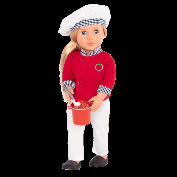 18-inch Chef Doll Chiara Sauce Pot Accessory