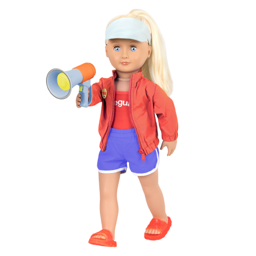 Lifeguard Playset Functional Megaphone for 18-inch Dolls