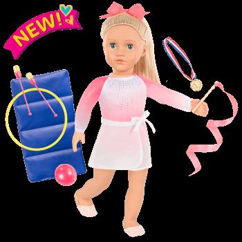 Posable 18-inch Rhythmic Gymnastics Doll Diane