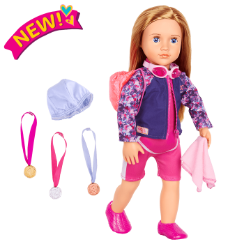 18-inch Posable Swimmer Doll Maya