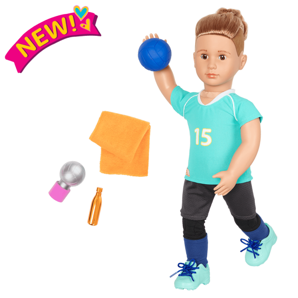 Posable 18-inch Volleyball Player Boy Doll Johnny