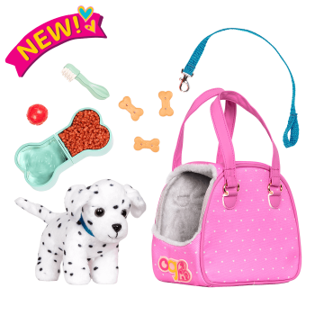 Hop In Dog Carrier Pet Plush Dalmatian for 18-inch Dolls