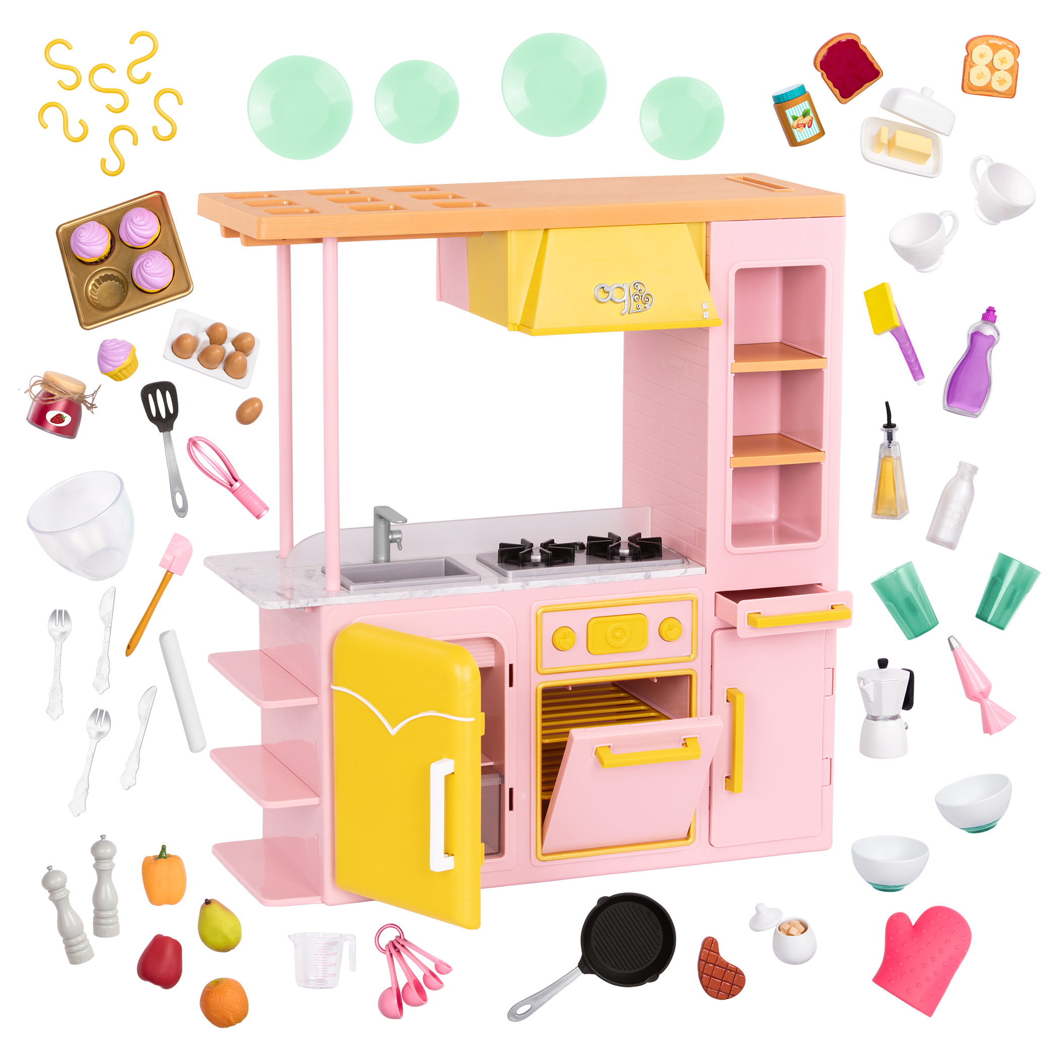 Sweet Kitchen Set for 18-inch Dolls