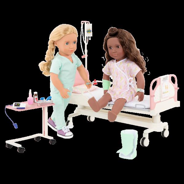 OG Get Well Bed Doctor Set for 18-inch Dolls Hally Keisha