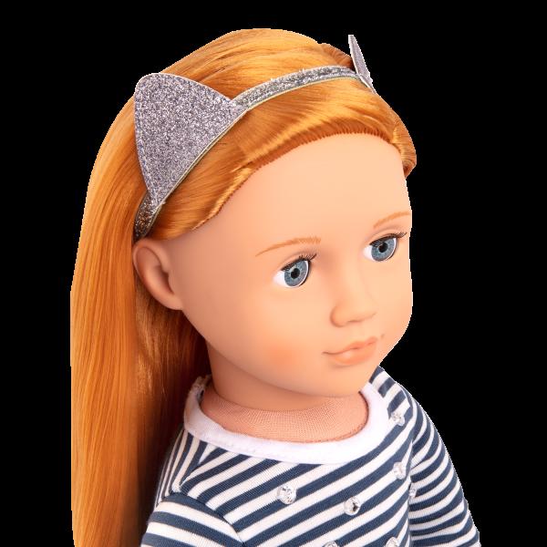 Arlee 18-inch Doll with Cat Headband