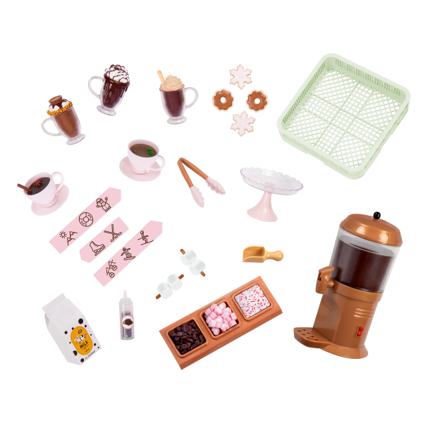 Choco-Tastic Hot Chocolate Stand for 18-inch Dolls Accessories