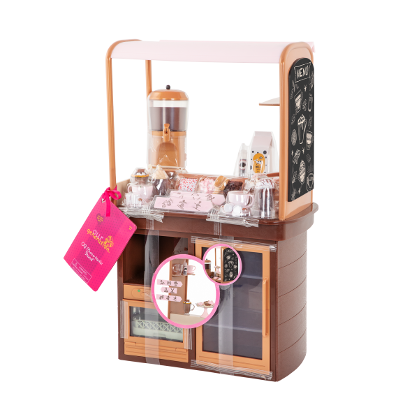 Choco-Tastic Hot Chocolate Stand for 18-inch Dolls Packaging