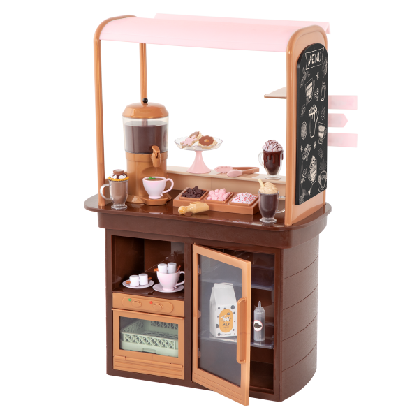 Choco-Tastic Hot Chocolate Stand for 18-inch Dolls Storage Shelves