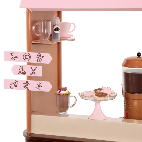 Choco-Tastic Hot Chocolate Stand for 18-inch Dolls Activity Signs
