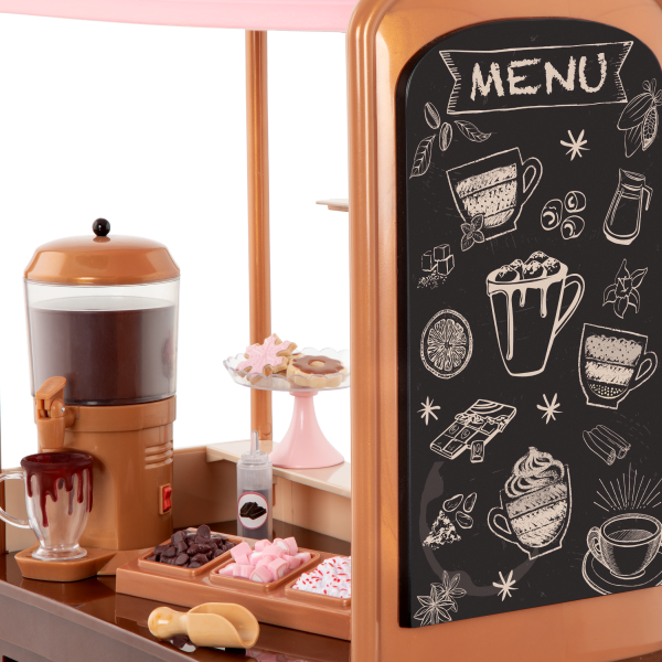 Choco-Tastic Hot Chocolate Stand for 18-inch Dolls Play Food