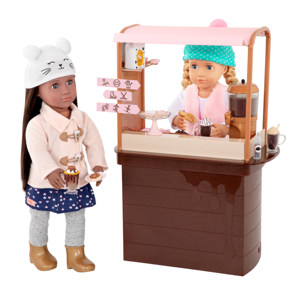 Choco-Tastic Hot Chocolate Stand for 18-inch Dolls Holiday Playset